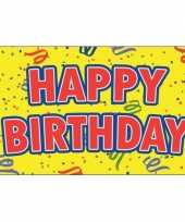 Happy birthday verjaardag feest vlag 90 x 150 cm
