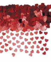 Hartjes confetti rood 6 zakjes