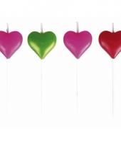Hartvormige kaarsjes 8 stuks