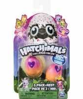 Hatchimals colleggtibles 2 stuks geel roze met nest seizoen 3