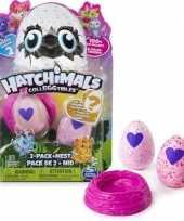 Hatchimals colleggtibles 2 stuks roze met nest seizoen 2