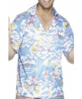 Hawaii feest-shirts blauw