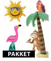 Hawaii themafeest pakket met opblaasversiering