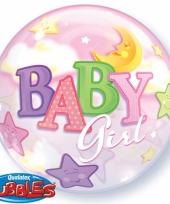 Helium ballon roze geboorte meisje