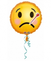 Helium ballon ziekte smiley print 43 cm