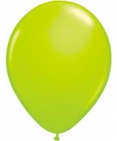 Helium ballonnen neon groen 50 stuks