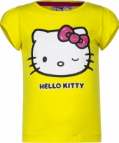Hello kitty t-shirt geel