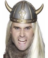 Helm viking zilver met goud