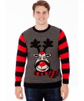 Heren kerstmis trui rudy reindeer