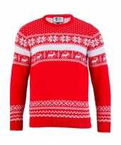 Heren kerstmis trui the red nordic