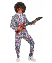 Heren kostuum luipaard print