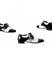 Heren lak schoenen zwart wit