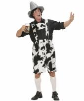 Heren lederhose met koeienprint