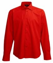 Heren overhemd rood van l s