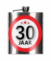 Heupfles 30 jaar 200 ml verjaardagscadeay