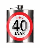 Heupfles 40 jaar 200 ml verjaardagscadeay