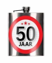 Heupfles 50 jaar 200 ml verjaardagscadeay
