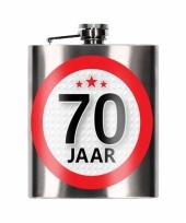 Heupfles 70 jaar 200 ml verjaardagscadeay