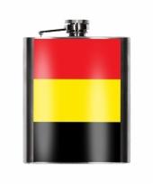 Heupflesjes belgische vlag 200 ml