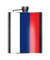 Heupflesjes russische vlag 200 ml