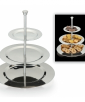 High tea etagere van rvs