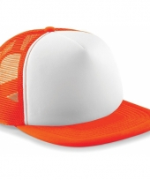 Hip hop baseballcap oranje voor volwassenen