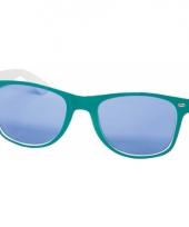 Hippe funbril met blauwe glazen