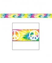 Hippie thema versiering afzetlint 6 meter