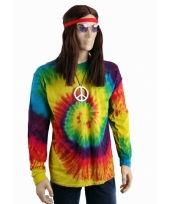 Hippie verkleedkleding shirt rainbow 10052115