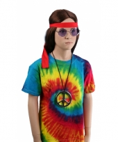 Hippie verkleedkleding shirt rainbow 10052175