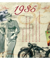 Hits uit 1935 verjaardagskaart