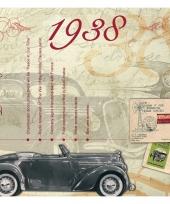 Hits uit 1938 verjaardagskaart