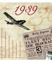 Hits uit 1939 verjaardagskaart