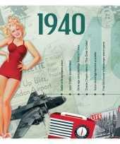 Hits uit 1940 verjaardagskaart
