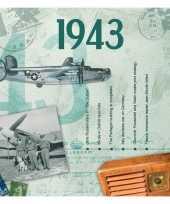 Hits uit 1943 verjaardagskaart
