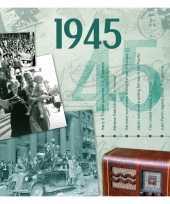 Hits uit 1945 verjaardagskaart