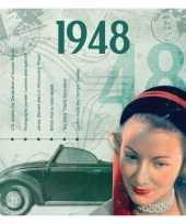 Hits uit 1948 verjaardagskaart