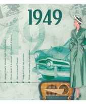 Hits uit 1949 verjaardagskaart