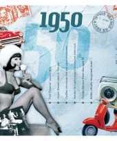 Hits uit 1950 verjaardagskaart