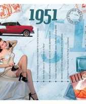 Hits uit 1951 verjaardagskaart