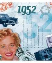 Hits uit 1952 verjaardagskaart