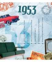 Hits uit 1953 verjaardagskaart