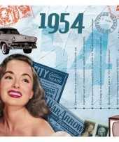 Hits uit 1954 verjaardagskaart