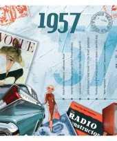 Hits uit 1957 verjaardagskaart