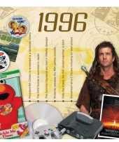 Hits uit 1996 verjaardagskaart