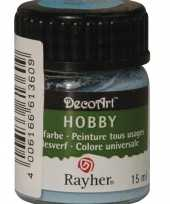 Hobby materialen verf lichtblauw 15 ml