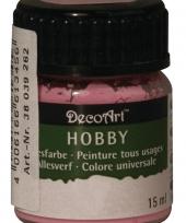 Hobby materialen verf lichtroze 15 ml