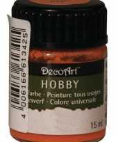 Hobby materialen verf oranje 15 ml