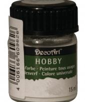 Hobby materialen verf wit 15 ml