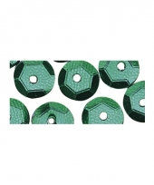Hobby pailletten groen 6 mm